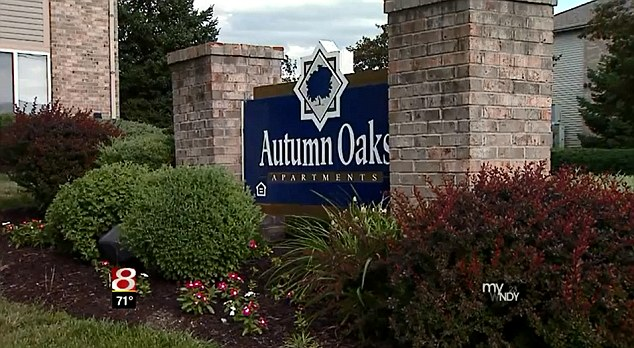 Disturbing scene: A police officer who entered Cooper's home at the Autumn Oaks apartment complex discovered the 6-year-old completely naked in the bedroom