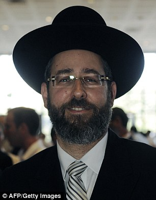 Anger: Israel's newly-elected chief rabbi David Lau has provoked fury after he was accused of making racist remarks about professional basketball players
