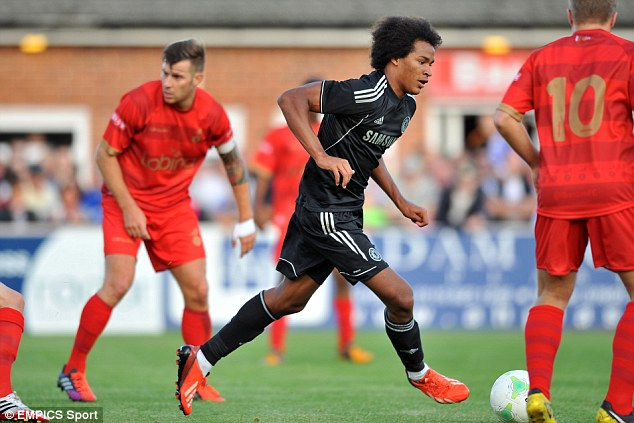 Big future: Chelsea's Isaiah Brown will gain more international experience later this month with the Under 17s