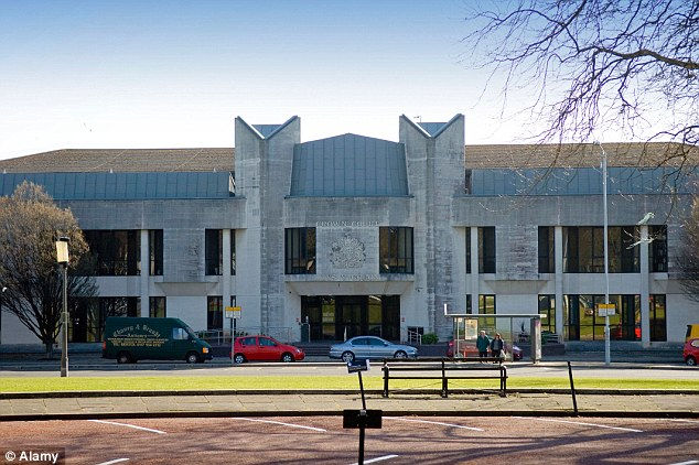 Trial: Davies, 42, was found guilty at Swansea Crown Court (pictured) of two separate sex assaults on women