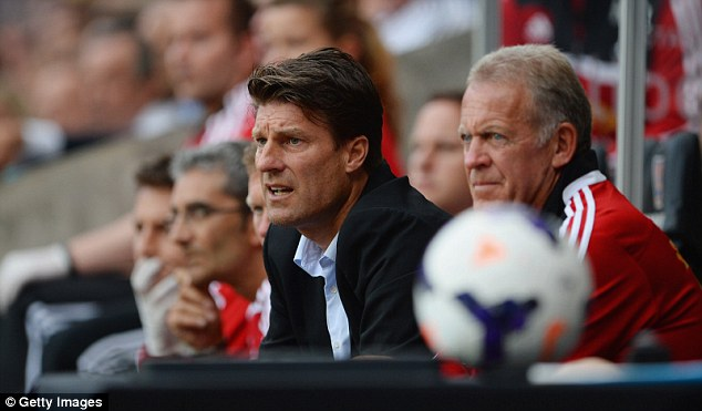 Good start: Michael Laudrup looks on with his side giving him some optimism for the coming season