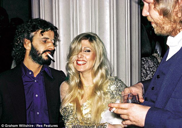 Nilsson with Ringo Starr and Lynsey de Paul. 'When he got to make records with John Lennon and be friends with Ringo Starr, his life was complete,' said legendary songwriter Jimmy Webb