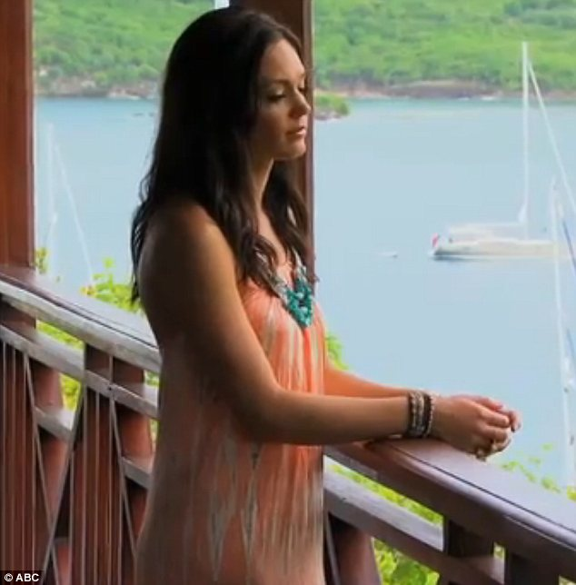 Penny for your thoughts: Des can be seen admiring the view in Antigua while mulling things over in the preview