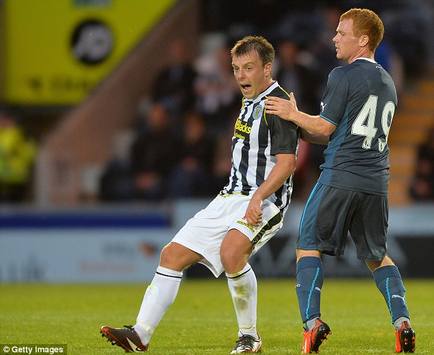 Young gun: St Mirren, with Paul McGowan, want young Newcastle star Adam Campbell (right) on loan