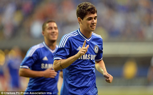 Talent: 21-year-old Oscar and 22-year-old Eden Hazard (below) are already Chelsea regulars