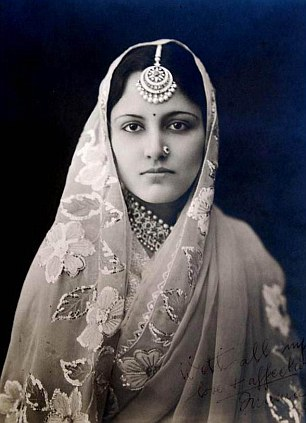 Maharani Narinder Kaur, the wife of Maharaja Harinder Singh Brar. The couple were fond of shopping while on holiday in England and would stay at the Savoy - sometimes for as long as four months