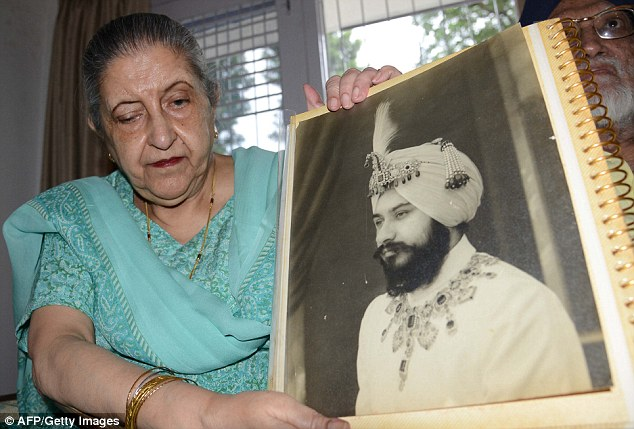Determined: Amrit Kaur filed a court action in 1992 calling the will made public after her father's death into question