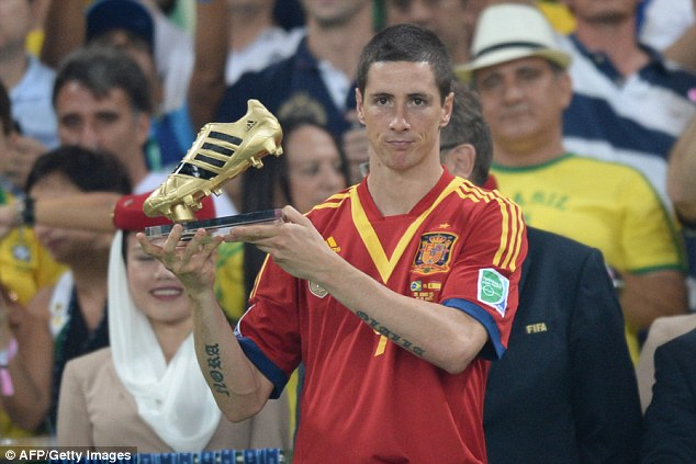 Golden boot: Torres was the top scorer at the Confederations Cup in Brazil