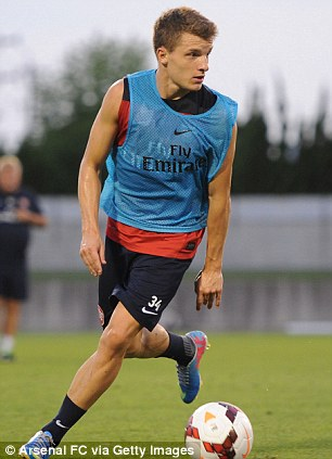 Promising? Hector Bellerin (above), Thomas Eisfeld (below, left) and Kris Olsson (below, right) are thought to be some of the finest youth prospects at the club