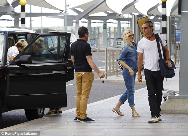 The gang's all here: Gwen and husband Gavin Rossdale brought along sons Kingston and Zuma (not pictured)