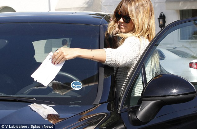 Remove: Lauren quickly removed the parking ticket from her car so she could be on her way