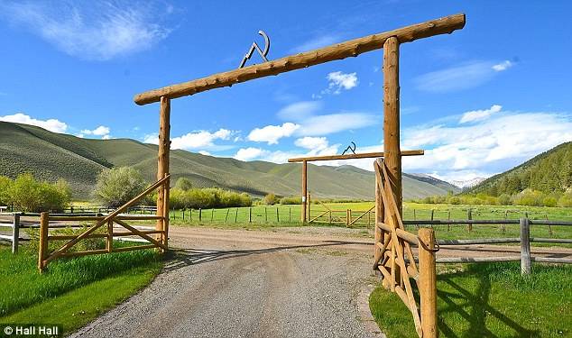 The getaway: McQueen and his third wife Barbi called their Idaho home Crazy M Ranch