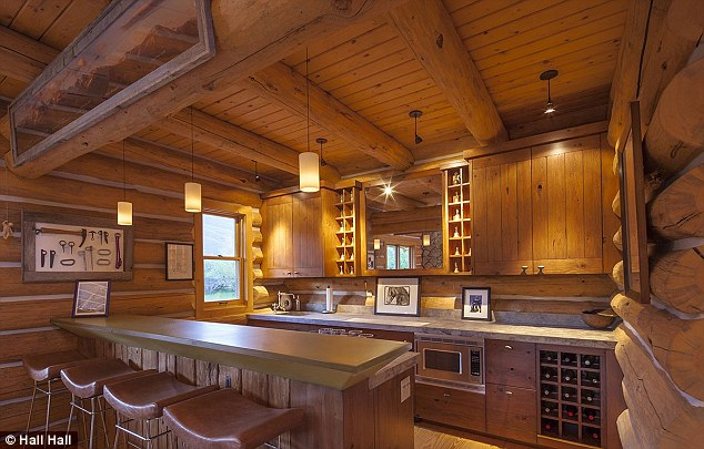 Chuckwagon: The fitted kitchen has modern appliances but a rustic feel