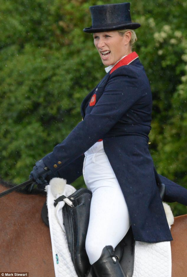 The Queen's granddaughter was not competing in the Festival of British Eventing, however, but doing a 'guinea pig' trial to help judges decide how to mark riders