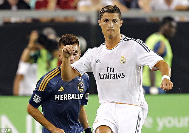 Demands: Cristiano Ronaldo wants double Gareth Bale's wage if he is to sign a new contract at Real Madrid
