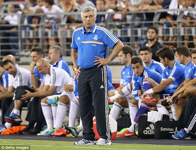 Boss: New Real Madrid boss Carlo Ancelotti could have two of the world's top three stars at his disposal