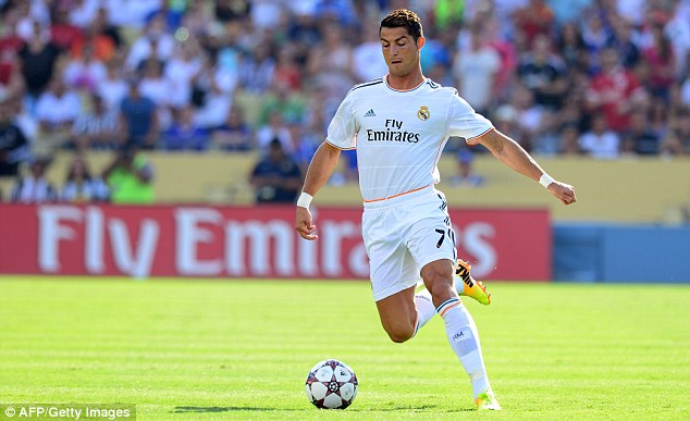 Star attraction: The LA crowd will have been glad to have seen Ronaldo among the goals