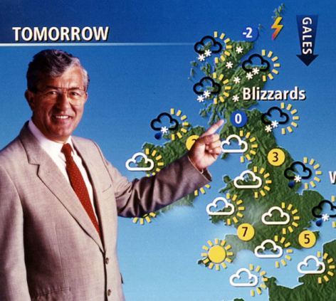 Disputes: BBC weatherman Bill Giles reveals the secret life of forecasters in his new book
