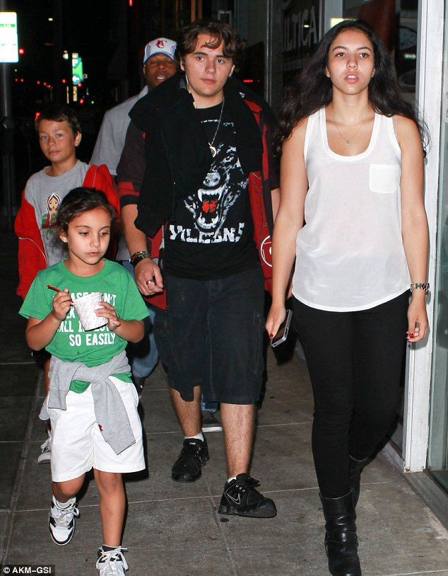 What a gent! Prince Jackson took girlfriend Remi and her sister out for ice-cream on Sunday night