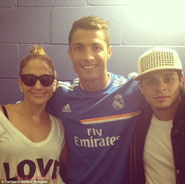 Rubbing shoulders: He posted another picture with Jennifer Lopez and dance choreographer Beau Smart