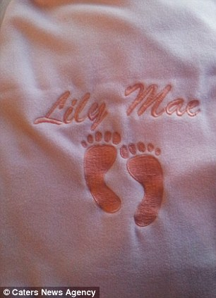 Blankie: The couple were even give an embroidered personalised blanket for their daughter
