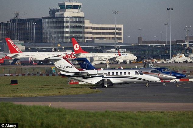 Ordeal: Most passengers slept overnight in the airport (file picture), which is located south of Manchester city centre, only to find the plane again missed its take-off slot. The flight finally took off late last night