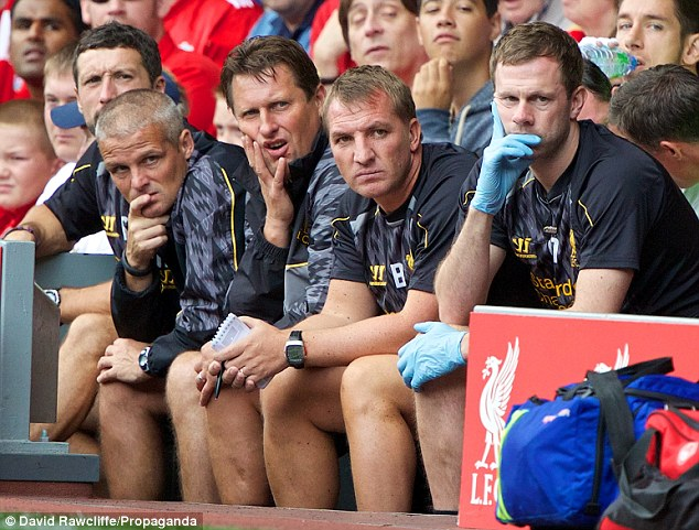 Worrying time: Brendan Rodgers' plans for the coming season could be disrupted by Suarez