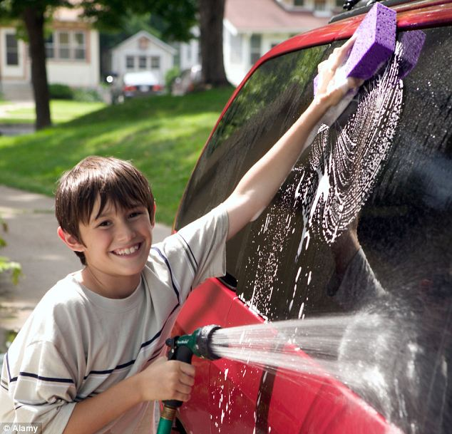 Sexism begins at home: New research has found boys typically receive £1.45 for each household chore they do...