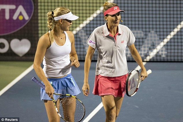 Special place: Seles (right) has fond memories of the Rogers Cup after making her comeback there after the stabbing incident in Hamburg in 1993