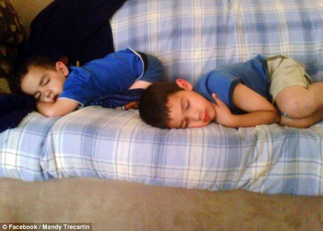 Innocence: Mr Savoie thought the boys were still sleeping when he went to check on them on Monday