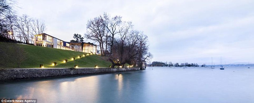 Lake: The property has a path from the house down to a private dock for boating on Lake Geneva