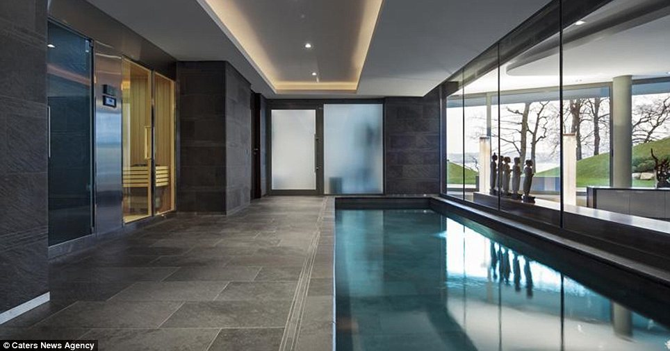 Chilling out: The indoor swimming pool, which is accompanied by a sauna and spa, is the perfect way to relax