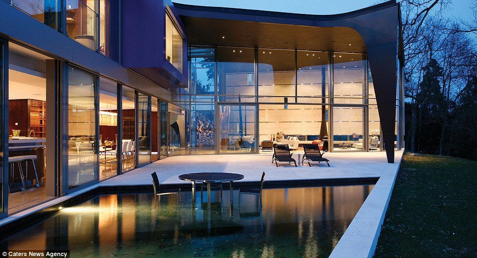 Terrace: The millionaire buyer will be able to sit outside the house every evening and enjoy the sunset