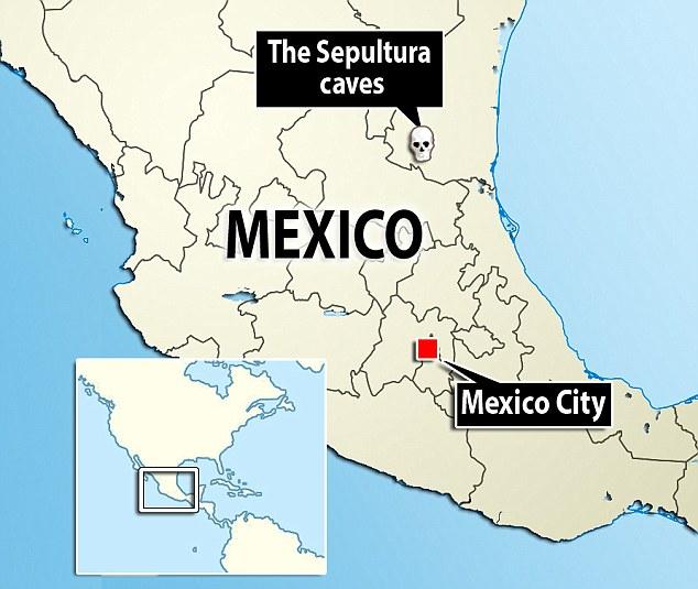 Mexico Sepultura caves skeletons Locator