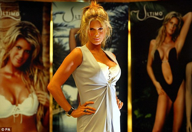 Back in the day: Rachel Hunter, a model and actress, poses for photographers