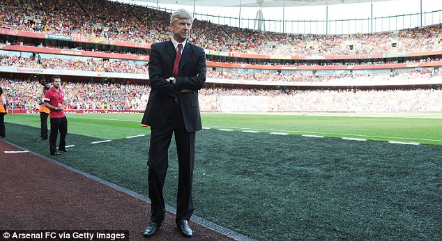 Lonely place: Arsene Wenger has so far been unable to seriously strengthen his squad this summer