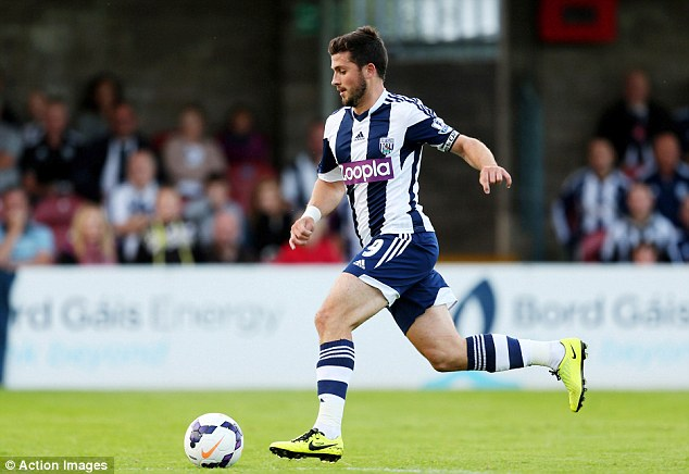Back in town: Former Cork player Shane Long turned out against his old side