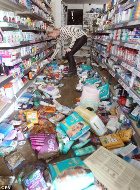Four Ways Pharmacy has been left devastated by the burst water main