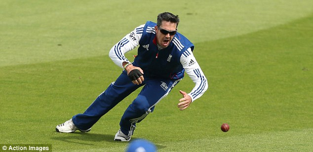 Hard at work: Pietersen trains at Durham in preparation for the fourth Ashes Test