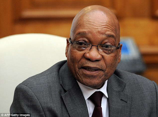 Splashing out: Last year it emerged that South African President Jacob Zuma, pictured, had spent £17.5million to upgrade his rural home into a luxury mansion