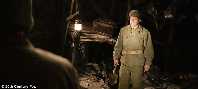 Oops: Matt's character find himself standing on an unexploded landmine in the final scene of the trailer