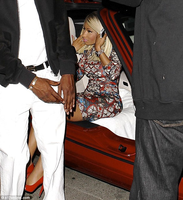 Dolled up: On Tuesday Nicki was spotted dressed up outside the Supper Club in Hollywood