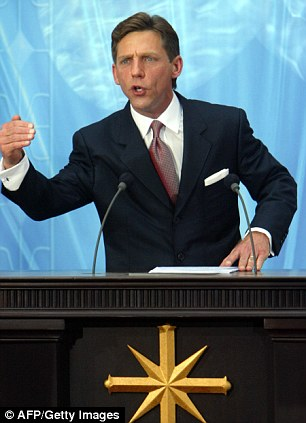 Leader: David Miscavige's (left) wife Shelly (right) has not been seen in public for over six years - but the the Church of Scientology has claimed that she is not missing in any shape or form