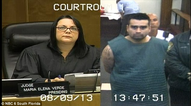 Denied: A Miami-Dade Circuit court judge denied Medina bail Friday after he allegedly admitted to murdering his wife on Facebook Thursday