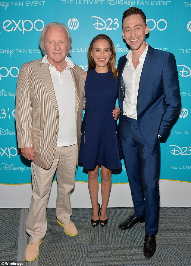 Superhero convention: Thor: The Dark World stars Anthony Hopkins, Natalie Portman and Tom Hiddleston were also in attendance as they promoted their upcoming flick