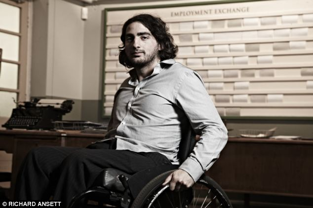 Delighted: Craig, who has spina bifida, is desperate to work and is thrilled when he is offered a 1949-style training course while taking part in the documentary