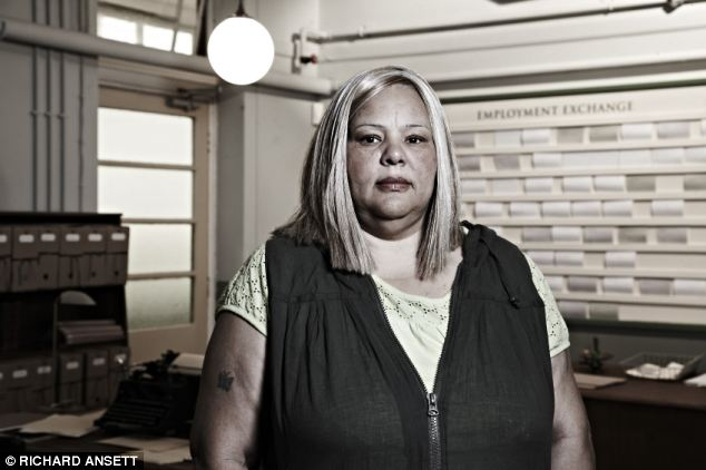 Claimant: Grandmother Karen, who is among the 20 million people claiming benefits in Britain, appears in Channel 4 documentary Benefits Britain 1949
