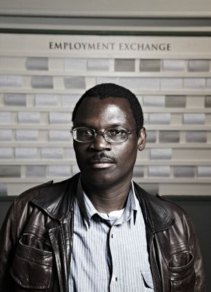 Looking for work: Patson, who arrived in the UK in 2002 after fleeing violence in Zimbabwe, also takes part in the documentary
