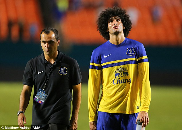 Plenty to ponder: Marouane Fellaini could be on his way to Manchester United