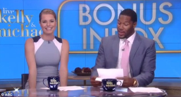Loves her man in Speedos: Rebecca Romijn was a guest host on Live With Kelly & Michael on Monday morning and kept the banter going by talking about her husband's penchant for wearing skimpy Speedo swimwear